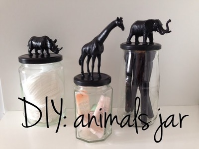 DIY: animals jar