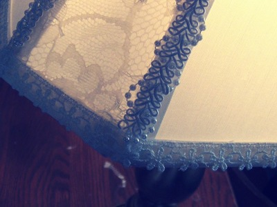 DIY: Custom Lace Lamp Shade