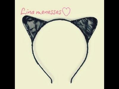 DIY diadema orejas de gato