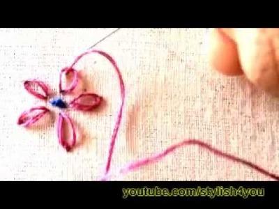 Hand Embroidery: Laisy Daisy stitch