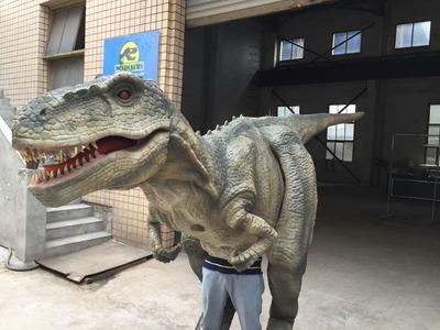 High simulation handmade Dinosaur Puppet.Dinosaur Costume T-rex DWE3324-20