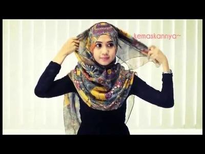 Hijab Tutorial Shawl Modern 01 hijab style By FHA Fiza