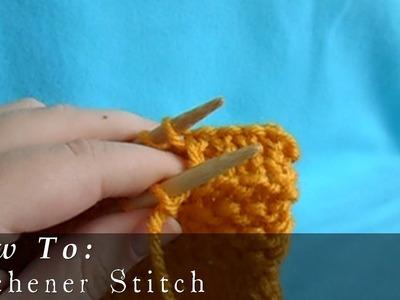 Kitchener Stitch | Seamless Sewing