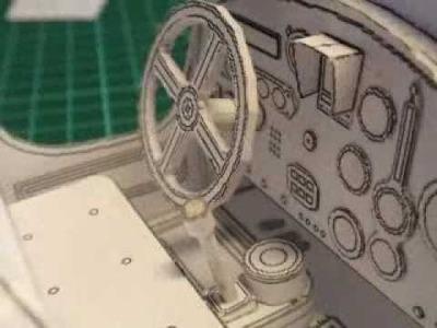 Papercraft car model