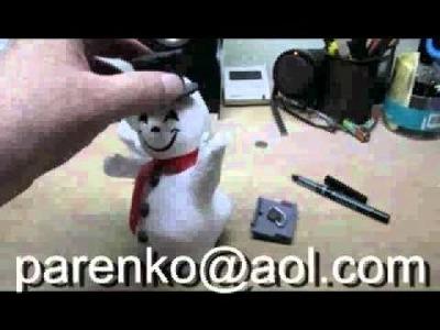Parenko's DIY Paper Mache Snowman