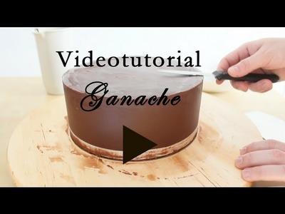 Como conseguir un pastel con bordes rectos y perfectos - Ganache - www.elblogdeislapastel.com