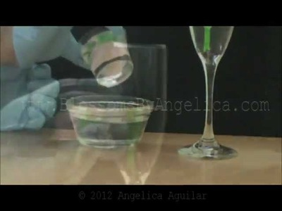 Como hacer flores encapsuladas en copas version #1