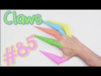 COOL Origami Claws Halloween | Cómo hacer las garras de papel de origami