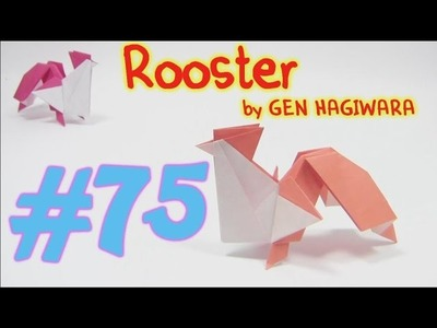 Cool Origami Rooster  | Como fazer origami galo