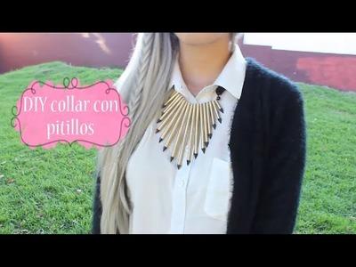 DIY collar con pitillos