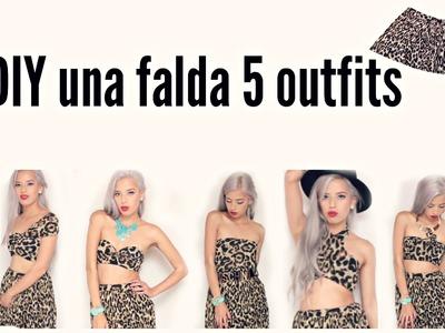 DIY una falda 5 outfits
