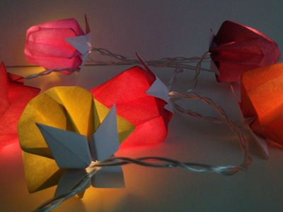 "HD. TUTO: Faire des ""lampions"" en origami pour une guirlande - Make ""lanterns"" origami for garland"