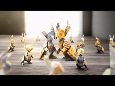 Imagekampagne 2011: TV-Spot - Origami-Spot der Bank Coop - Sparkonto Plus - Hase