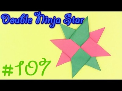 Origami Ninja Double Star (Shuriken) by Robs World - Yakomoga Origami tutorial