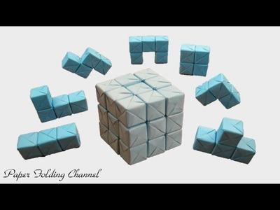 Origami Puzzle 3x3x3 3D Cube
