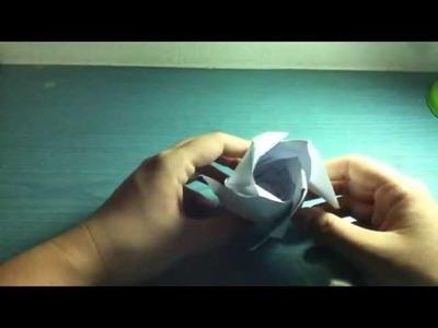 Origami Tutorial:Phu Tran Rose