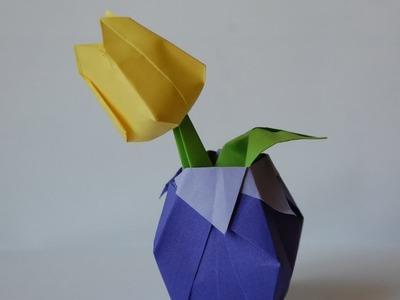 Origami vase (wazon origami)