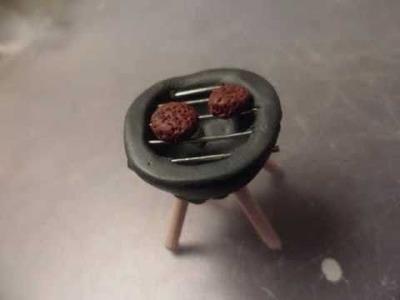 Polymer clay grill