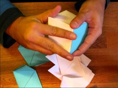 Rhombic Dodecahedron Origami Lamp