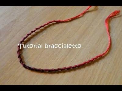 Tutorial 22 • braccialetto spirale in filo di cotone
