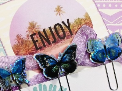 Butterfly Paper.Planner Clips!