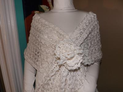 Crochet Flor Con Telar De Horquillas