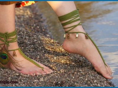 Crochet Tutorial: Tribal Barefoot Sandals
