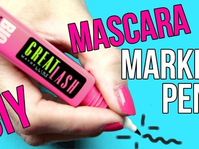 DIY Crafts: Easy DIY Mascara Marker Pens - Crayola Marker DIYs - Cool & Unique Craft Idea