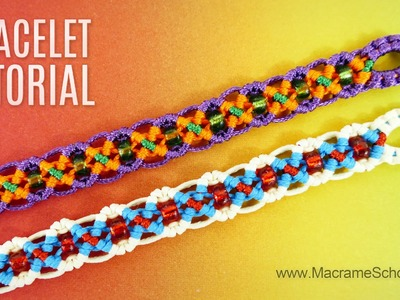 DIY Easy X Wave Bracelet | Tutorial by Macrame School