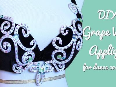 DIY Grape Vine Applique - Wire Rhinestone Appliques for Dance Costumes!