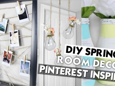 DIY Spring Room Decor. Pinterest Inspired