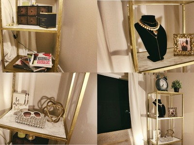 EASY DIY ▸ GOLD & MARBLE SHELVING UNIT (IKEA HACK!)