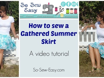 Easy Gathered Summer Skirt - free pattern