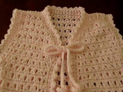Girl's Pink crochet Vest