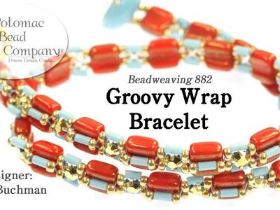 Groovy Wrap Bracelet (Beadweaving DIY)
