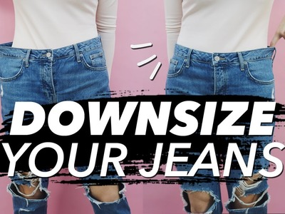 How to Downsize Jeans (Resize Waist & Legs!)