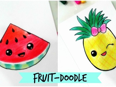 How to draw-Cute Fruit Doodle (Part-2)