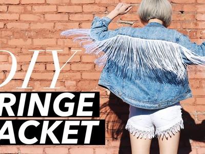 How to Make a Fringe Jacket (Easy!)