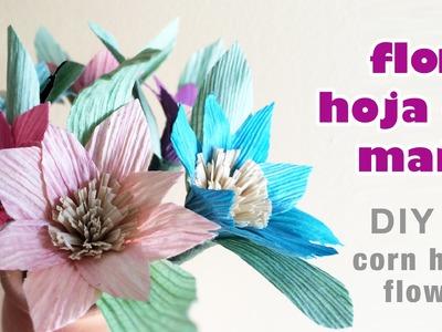 How to make corn husk flower 24.como hacer flores de hojas de maiz