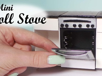 Miniature Oven.Stove Tutorial - Dollhouse Stove