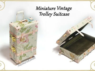 Miniature Vintage Suitcase - Tutorial