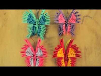 Origami 3d butterfly & swan, mariposa y cisne