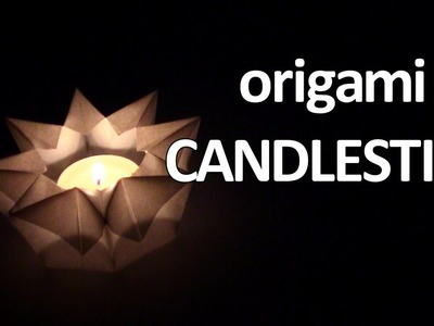 Origami Candle - Yakomoga Origami tutorial