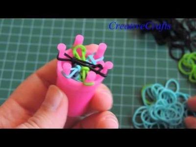 Pulsera de gomitas con telar redondo de Claire´s. Rainbow Loom Bracelet.