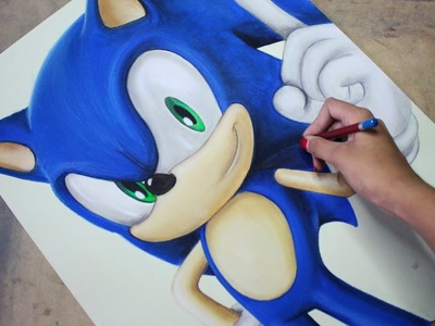 Speed Drawing: Sonic The Hedgehog | Diana Díaz