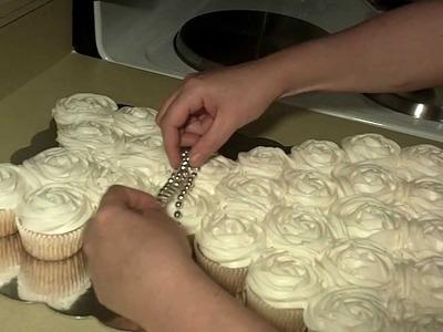 Wedding Dress Cupcake Cake Part 2
