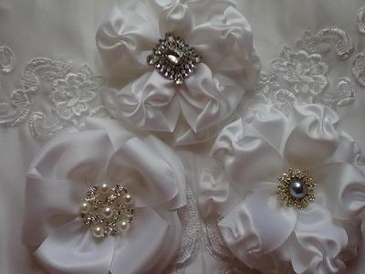 WHITE WEDDING FLOWER TUTORIAL