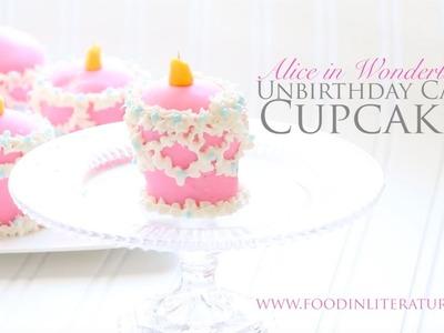 Alice in Wonderland Unbirthday Cake Cupcakes | Food in Literature