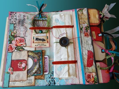 Altered Mixed Media Inter-Department Envelope Tutorial - Journal Page