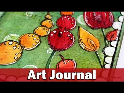 Art journal  Flower Garden  | PaperArtsy